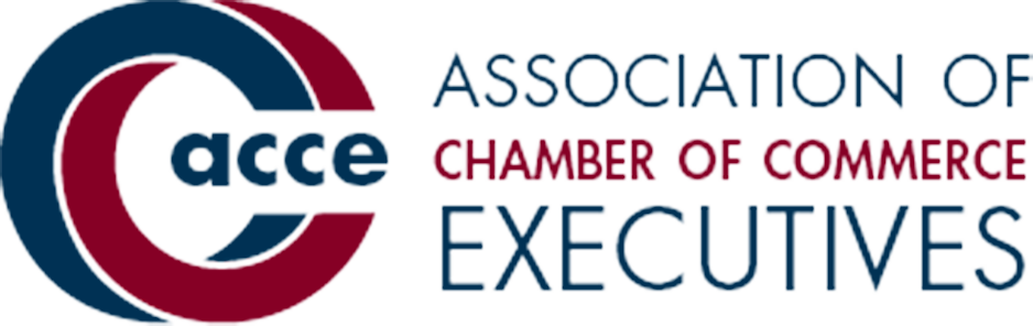 Association of Chamber of Commerce Executives logo in blue and burgundy font.